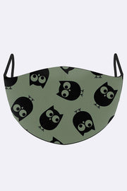Owl Pattern Print Face Mask Cover
