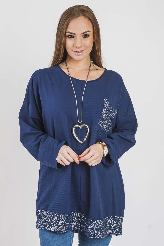 Karlee Cotton Crochet Sequin Paneled Top - Love My Fashions - Womens Fashions UK