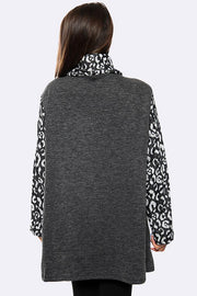Italian Cheetah Print Front Pocket Top