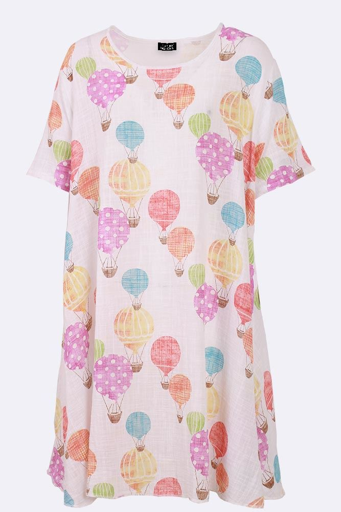 Tamsin Linen Cotton Hot Air Balloon A Line Dress