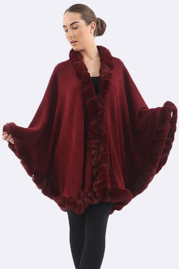 Bryana Chunky Neck Warmer Cape Poncho - Love My Fashions - Womens Fashions UK