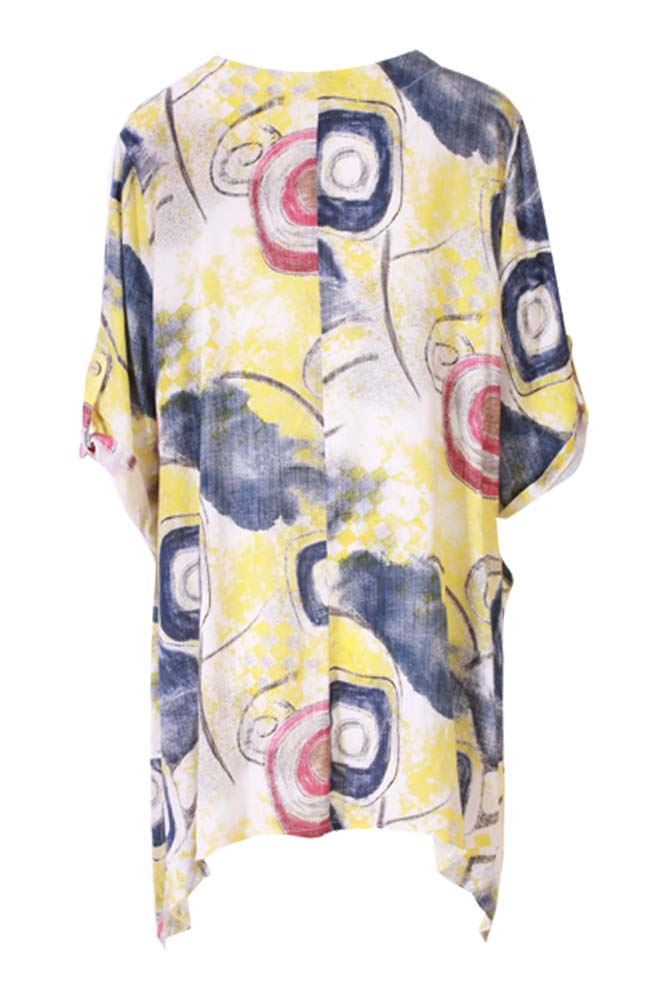 Tilly Cotton Abstract Circle Hanky Top - Love My Fashions - Womens Fashions UK