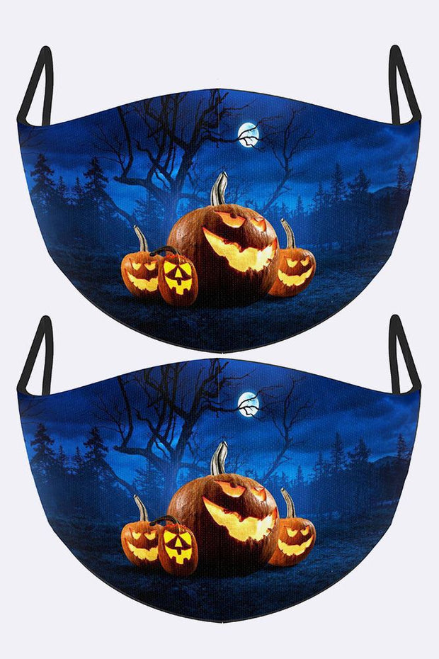 Scary Night Print Face Mask Cover
