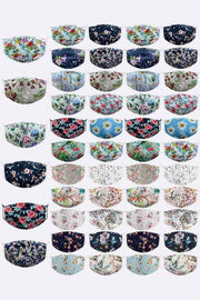 Floral Print Face Mask Cover