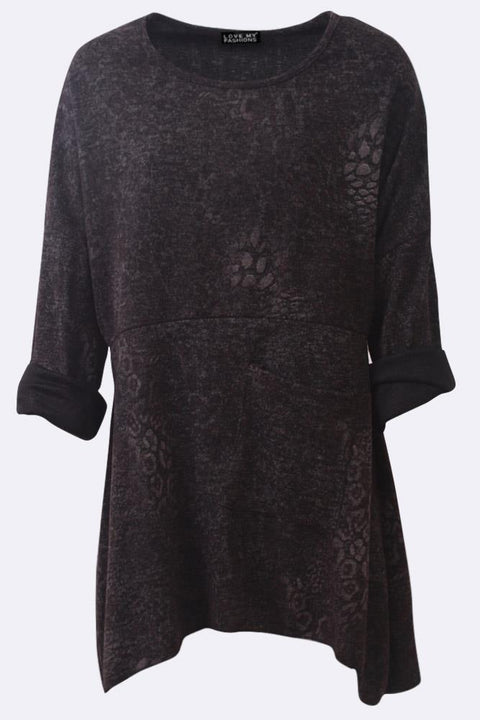 Anya Leopard Print Panelled Pocket A-line Top