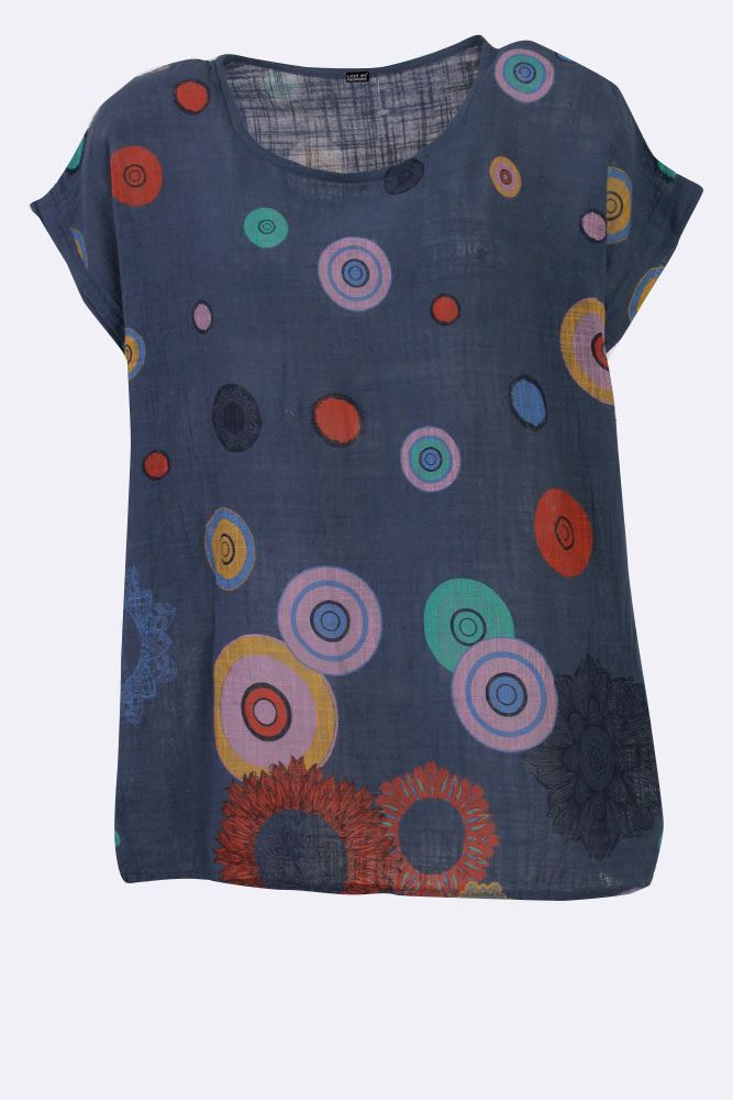 Jordyn Cotton Circle Floral Top - Love My Fashions - Womens Fashions UK