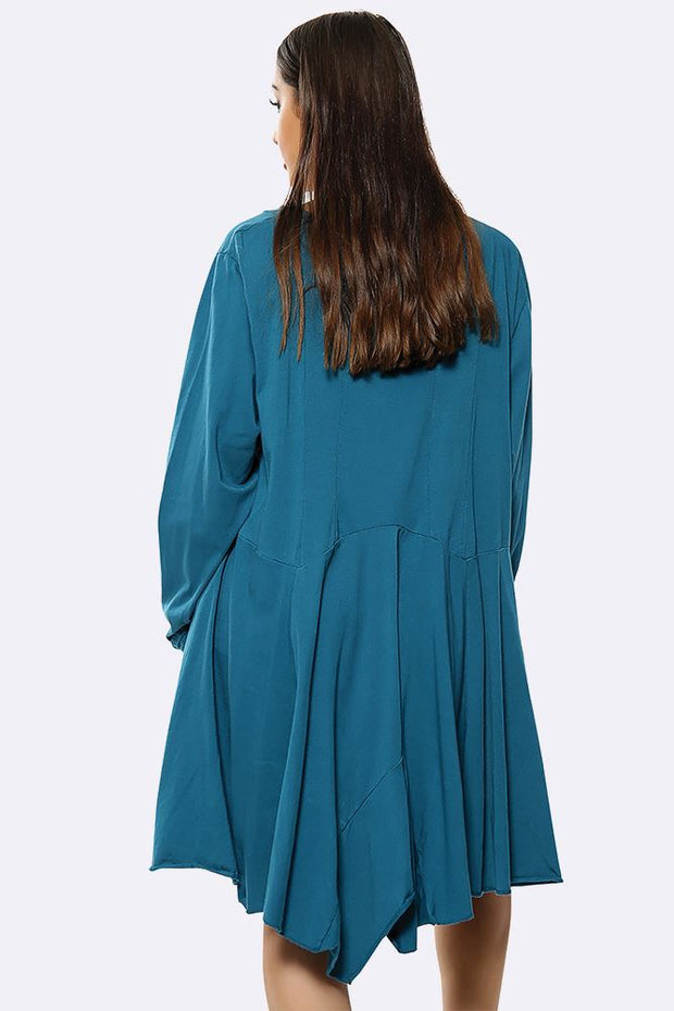 Cotton Plain Oversized Panel Top