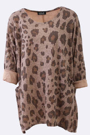 Chaya Leopard Print Pocket Top