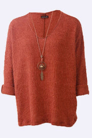 Aya Eyelash Fluffy Long Sleeve Necklace Jumper