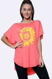 Italian Sunflower Motif Top
