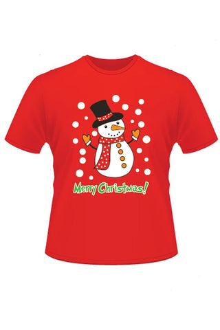 Katharine Snowman Knitted Christmas T-Shirt