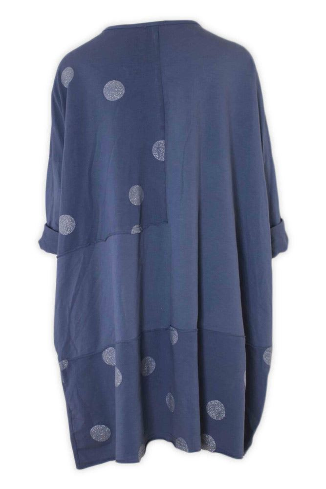 Isabelle Glitter Polka Dot Panelled Top - Love My Fashions - Womens Fashions UK
