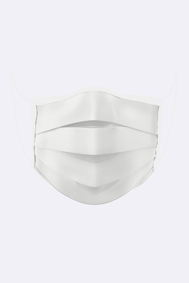 Plain Pleated Fashion Face Mask_grwo