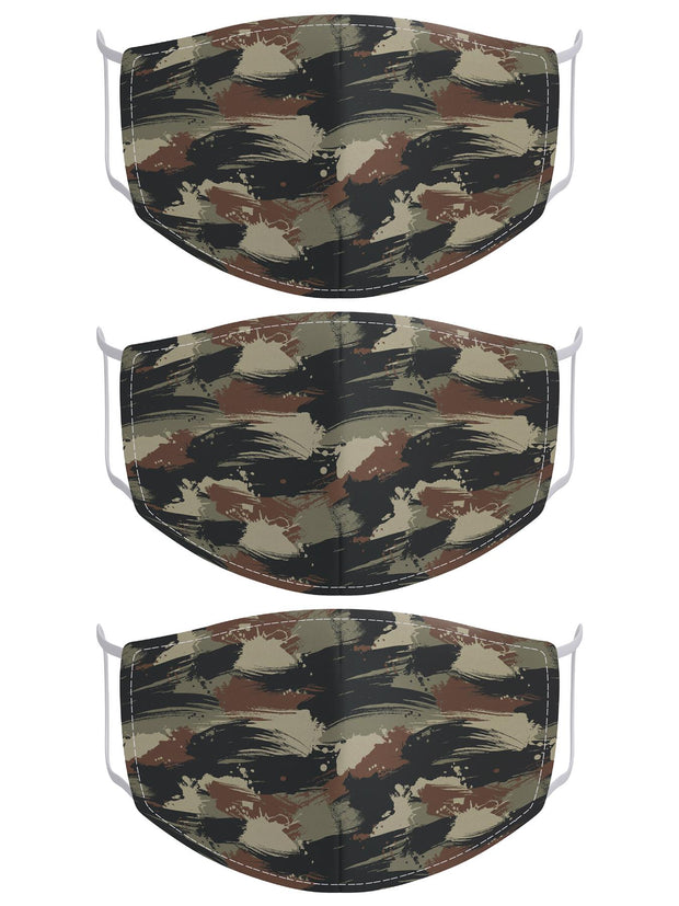 Camouflage Print Cotton Face Masks Cover_GRWO