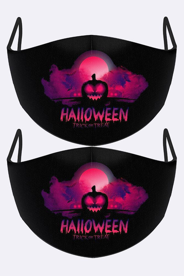 Trick Or Treat Print Face Mask Cover