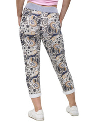 Floral Print Pocket Drawstring Trousers - Love My Fashions - Womens Fashions UK
