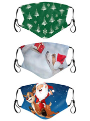 Christmas Print Face Mask Cover