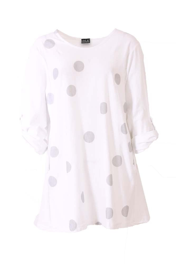 Isabel Glitter Spotted Button Back Top - Love My Fashions - Womens Fashions UK