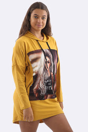 Jaiden Cotton Polite As F**k Print Oversize Top - Love My Fashions - Womens Fashions UK