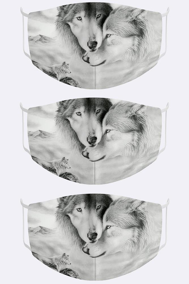 Unisex Digital Print 2 Ply Cotton Face Mask Cover_GRWO