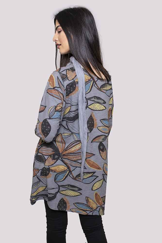 Maya Cotton Leaf Hanky Scarf Top - Love My Fashions - Womens Fashions UK