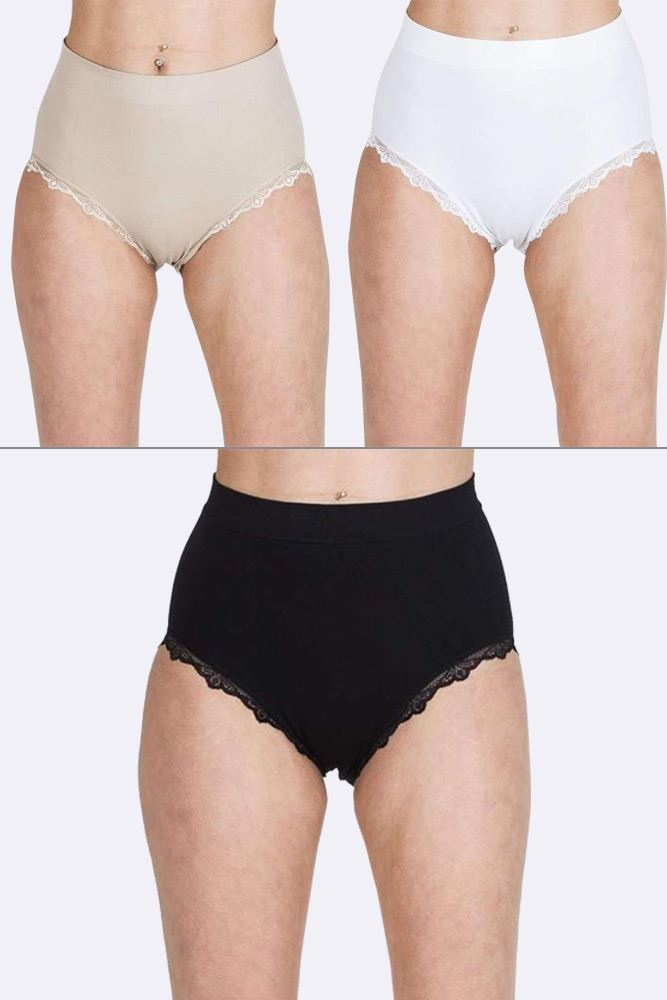 Daisie Lace Trim High Waist Knickers - Love My Fashions - Womens Fashions UK