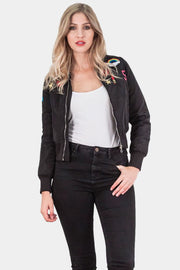 Safia Brave Soul Ma1 Armybadge Bomber Jacket - Love My Fashions - Womens Fashions UK