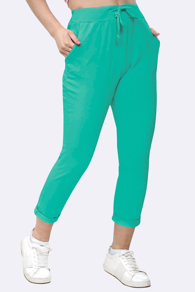 Lily-rose Italian Plain Drawstring Pocket Trousers - Love My Fashions - Womens Fashions UK