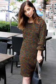 Mara Knitted Stripes Long Sleeve Dress