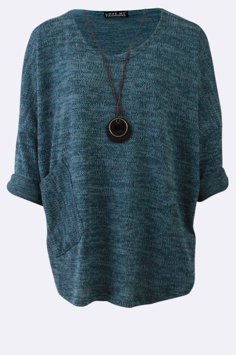 Jaqueline Knitted Slub Necklace Top - Love My Fashions - Womens Fashions UK