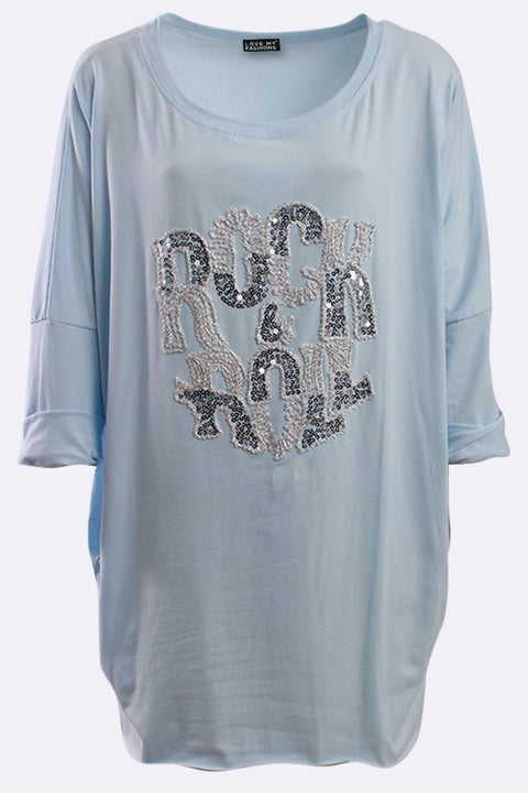 Layla Italian Sequin Rock & Roll Top - Love My Fashions - Womens Fashions UK