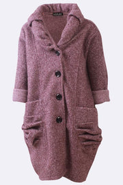 Belle Textured Fleece Button-up Pocket Jacket