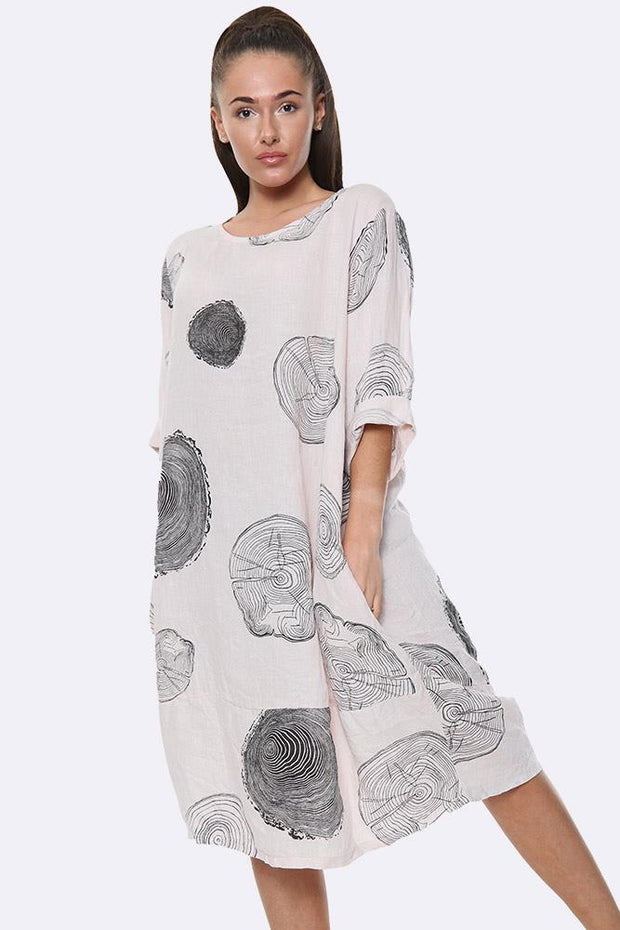 Italian Tree Log Print Dress