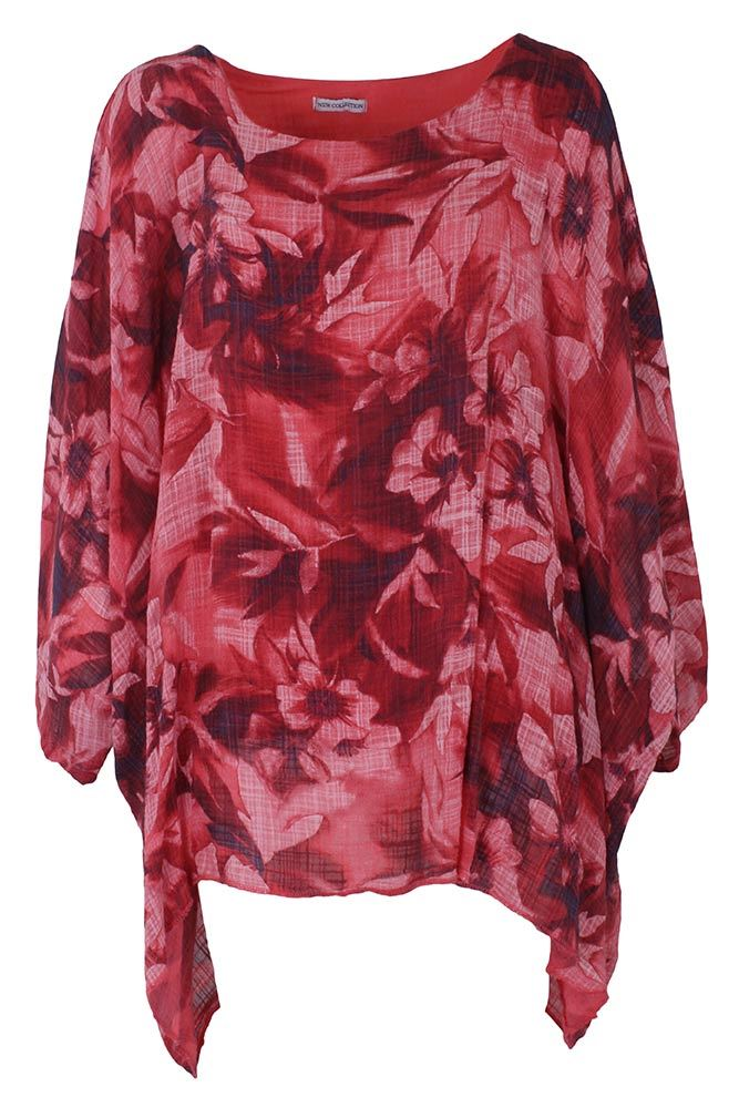 Freya Floral Marl Batwing Top - Love My Fashions - Womens Fashions UK
