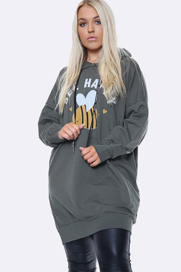 Italian Hooded Bee Happy Motif Top
