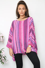 Italian Oversized Vertical Stripes Top