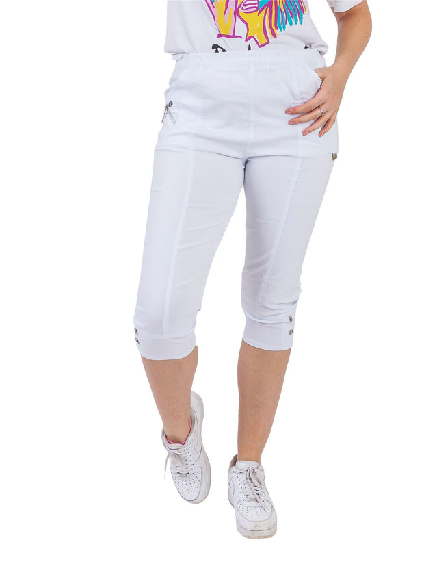 Zunairah Cotton Two Button Zipped Cropped Trousers - Love My Fashions - Womens Fashions UK