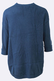 Alana Button Detail Two Front Pockets Ribbed Neckline Jumper - Love My Fashions - Womens Fashions UK