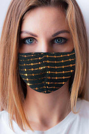 Foil Mirror Pattern Fashion Face Mask Cover