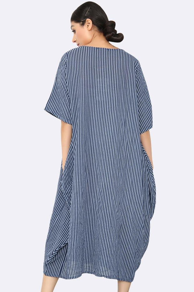 Italian Stripe Cocoon Pocket Dress