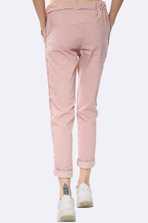 Italian Eyelet Sides Magic Pant