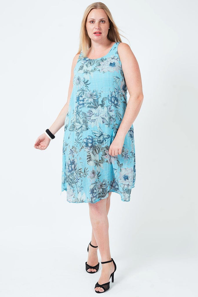 Rosa Sleeveless Floral Print Dress - Love My Fashions - Womens Fashions UK