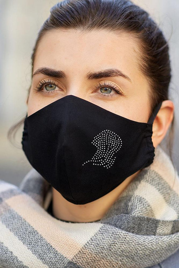Diamante Zodiac Pattern Fashion Face Mask Cover