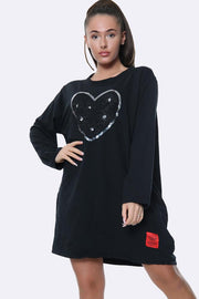 Italian Floral Heart Applique Motif Top