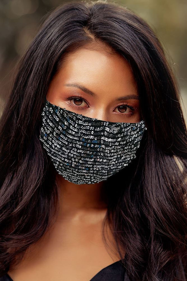 Sequin Pattern Fashion Face Mask Cover