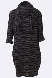 Anabelle Textured Stripes Scarf Pocket Dress - Love My Fashions - Womens Fashions UK