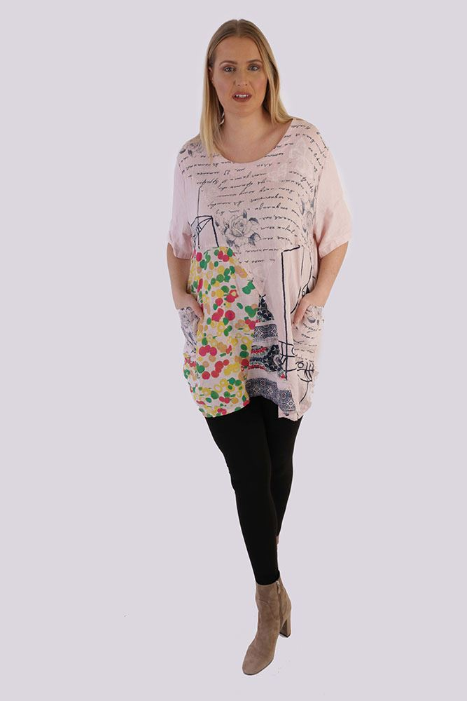 Destinee Linen Patchwork Pocket Top - Love My Fashions - Womens Fashions UK