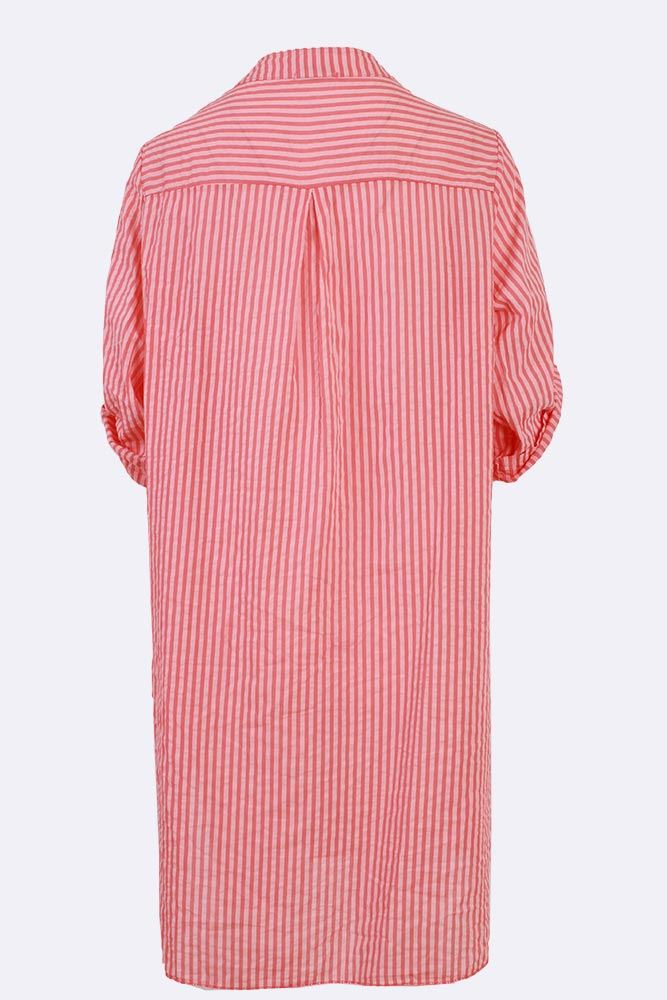 Savanna Cotton Stripe Pocket Tunic Top - Love My Fashions - Womens Fashions UK