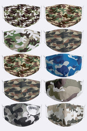 Camou Assorted Print Cotton Face Masks_grwo