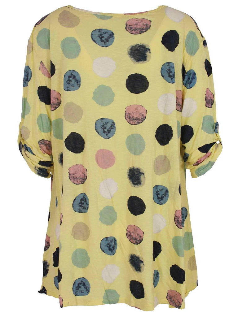 Paige Cotton Polka Button Sleeve Top - Love My Fashions - Womens Fashions UK